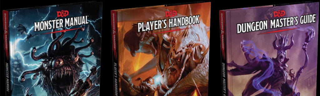 The Rook Room Dungeons & Dragons Gift Guide Core Rule Books