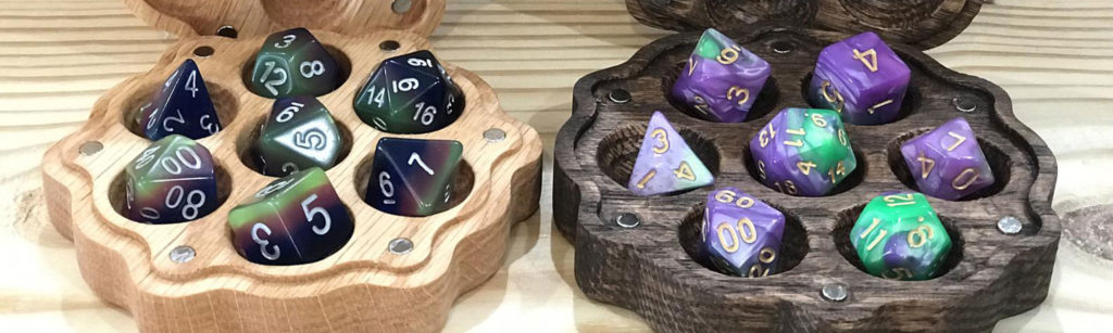 The Rook Room Dungeons & Dragons Gift Guide Dice Holders