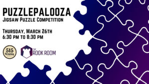Puzzlepalooza Jigsaw Puzzle Competition on March 26th