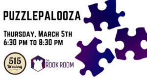 Puzzlepalooza Jigsaw Puzzle Competition on March 5th