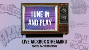 Tune In and Play Online Games with The Rook Room Graphic