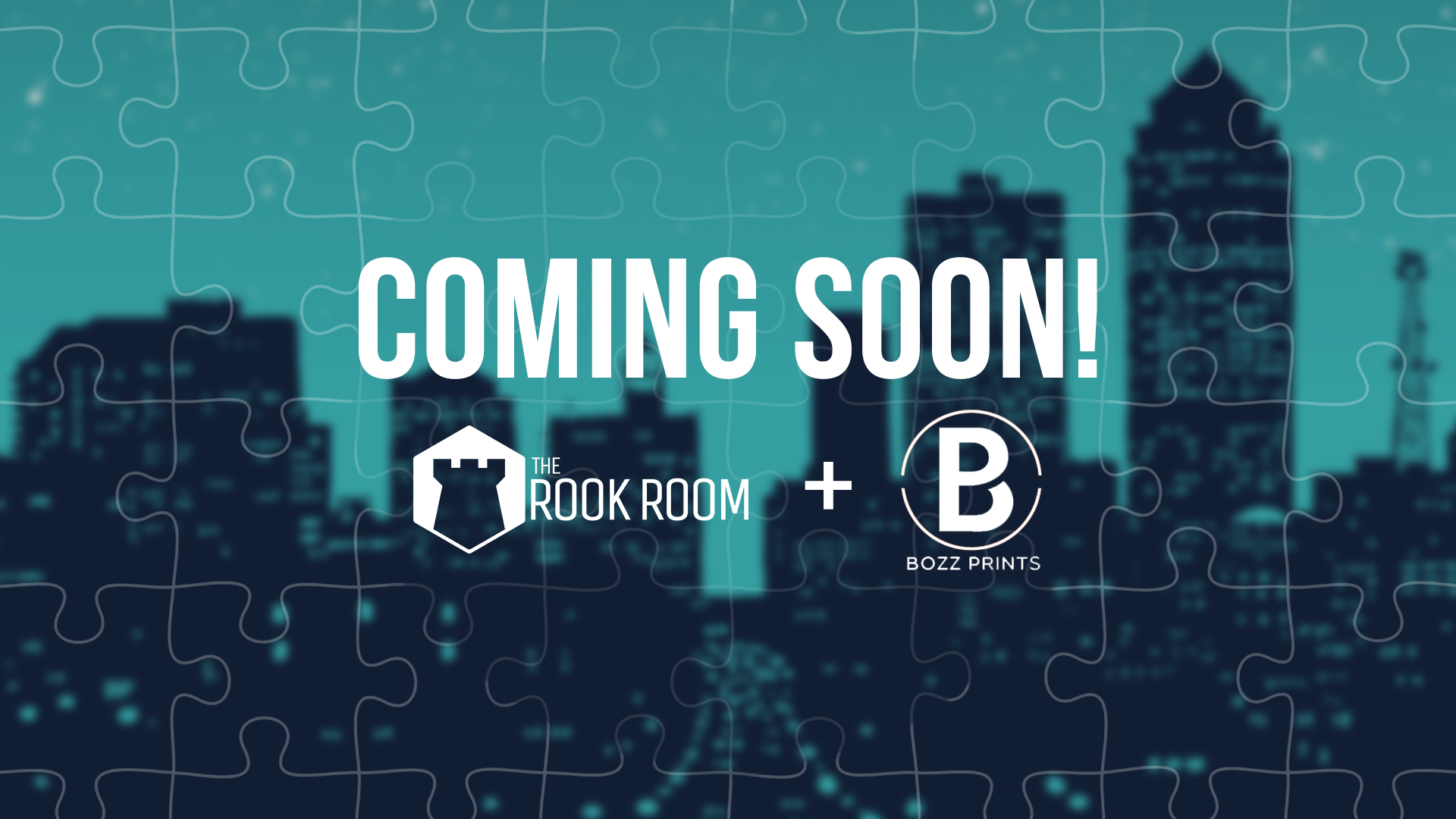 The Rook Room and Bozz Prints Des Moines and Iowa Jigsaw Puzzles Coming Soon Header Image