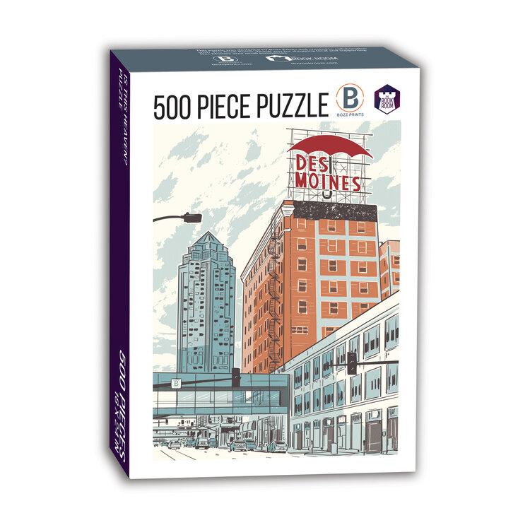 Des Moines Umbrella on Grand Puzzle