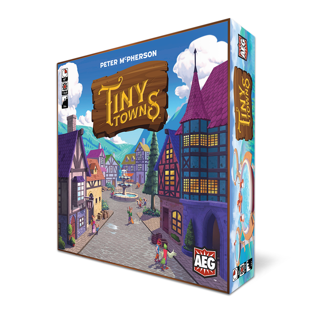 Tiny Towns Wins Best Board Game of the Year Origins Award Box